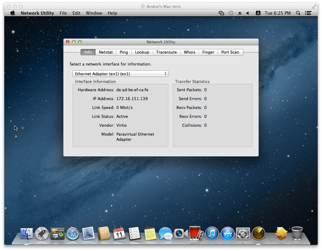 Playing with Mac OS X on KVM